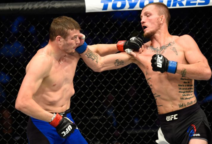 UFC 211:チャス・スケリー vs. ジェイソン・ナイト【アメリカ・テキサス州ダラス/2017年5月13日(Photo by Josh Hedges/Zuffa LLC/Zuffa LLC via Getty Images)】