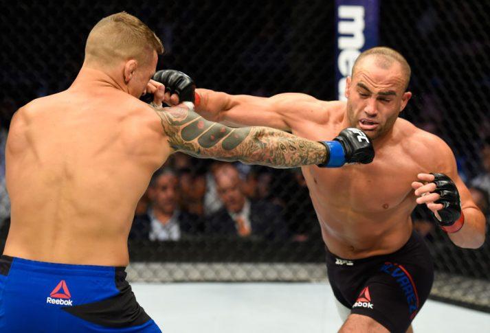 UFC 211:エディ・アルバレス vs. ダスティン・ポワリエ【アメリカ・テキサス州ダラス/2017年5月13日(Photo by Josh Hedges/Zuffa LLC/Zuffa LLC via Getty Images)】