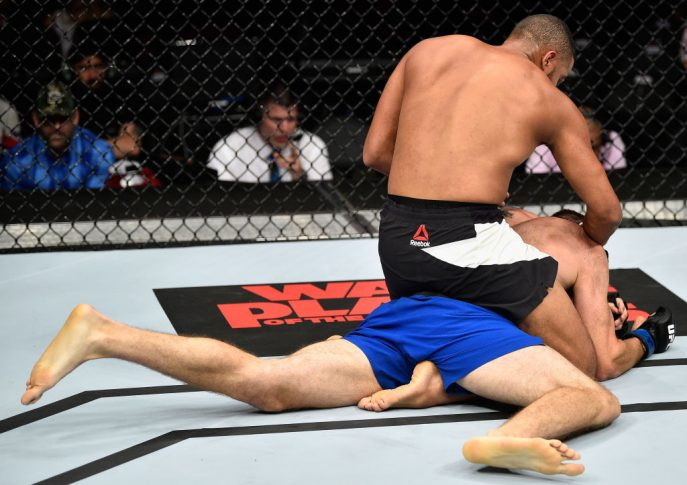 UFC 213:トレヴィン・ジャイルズ vs. ジェームズ・ボクノビック【アメリカ・ネバダ州ラスベガス/2017年7月8日(Photo by Jeff Bottari/Zuffa LLC/Zuffa LLC via Getty Images)】