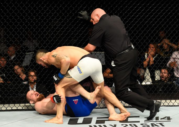 UFCファイトナイト・グラスゴー:グンナー・ネルソン vs. サンチアゴ・ポンジニッビオ【スコットランド・グラスゴー/2017年7月16日(Photo by Josh Hedges/Zuffa LLC/Zuffa LLC via Getty Images)】