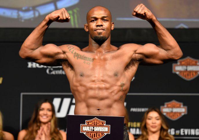 UFC 214:公式計量セレモニーに登場したジョン・ジョーンズ【アメリカ・カリフォルニア州アナハイム/2017年7月28日(Photo by Josh Hedges/Zuffa LLC/Zuffa LLC via Getty Images)】