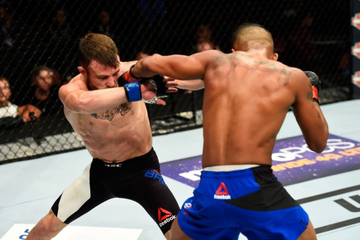 UFC 214:エリック・シェルトン vs. ジャレッド・ブルックス【アメリカ・カリフォルニア州アナハイム/2017年7月29日(Photo by Josh Hedges/Zuffa LLC/Zuffa LLC via Getty Images)】