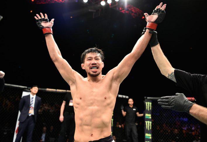 UFCファイトナイト・ジャパン:中村K太郎 vs. アレックス・モロノ【日本・埼玉/2017年9月23日(Photo by Jeff Bottari/Zuffa LLC/Zuffa LLC via Getty Images)】