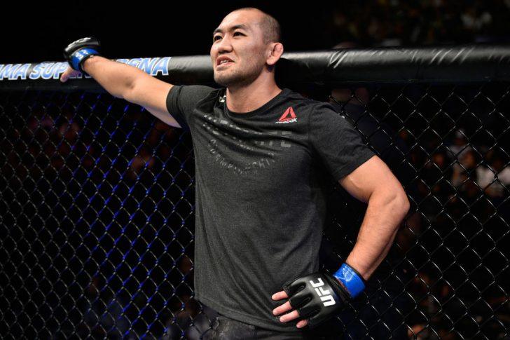 UFCファイトナイト・ジャパン:オヴィンス・サン・プルー vs. 岡見勇信【日本・埼玉/2017年9月23日(Photo by Jeff Bottari/Zuffa LLC/Zuffa LLC via Getty Images)】