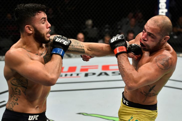 UFC 216:ターレス・レイチ vs. ブラッド・タバレス【アメリカ・ネバダ州ラスベガス/2017年10月7日(Photo by Jeff Bottari/Zuffa LLC/Zuffa LLC via Getty Images)】