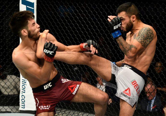 UFC 216:マット・シュネル vs. マルコ・ベルトラン【アメリカ・ネバダ州ラスベガス/2017年10月7日(Photo by Jeff Bottari/Zuffa LLC/Zuffa LLC via Getty Images)】