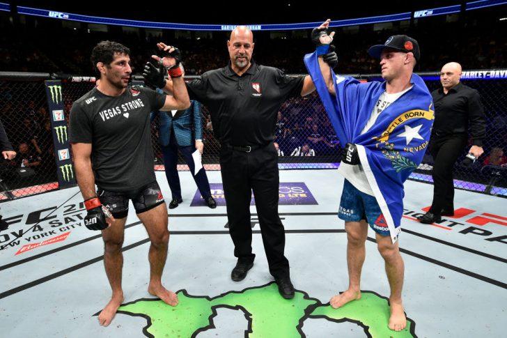 UFC 216:ベニール・ダリウシュ vs. エヴァン・ダナム【アメリカ・ネバダ州ラスベガス/2017年10月7日(Photo by Jeff Bottari/Zuffa LLC/Zuffa LLC via Getty Images)】