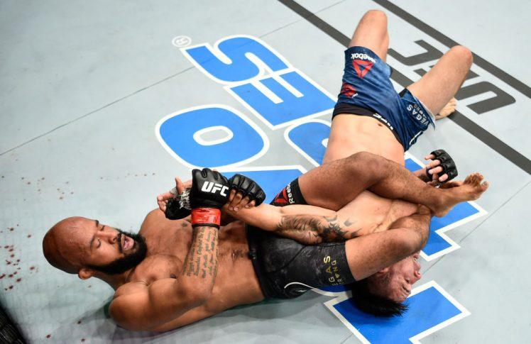 UFC 216:デメトリアス・ジョンソン vs. レイ・ボーグ【アメリカ・ネバダ州ラスベガス/2017年10月7日(Photo by Jeff Bottari/Zuffa LLC/Zuffa LLC via Getty Images)】