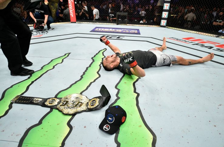 UFC 216:トニー・ファーガソン vs. ケビン・リー【アメリカ・ネバダ州ラスベガス/2017年10月7日(Photo by Jeff Bottari/Zuffa LLC/Zuffa LLC via Getty Images)】