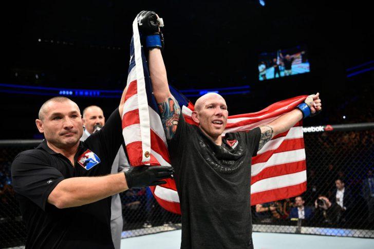 UFCファイトナイト・ポーランド:フェリペ・アランテス vs. ジョシュ・エメット【ポーランド・グダニスク/2017年10月21日(Photo by Jeff Bottari/Zuffa LLC/Zuffa LLC via Getty Images)】