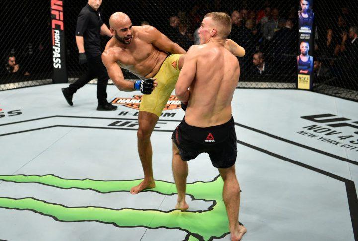 UFCファイトナイト・ポーランド:サリム・トゥアリ vs. ワーレイ・アウヴェス【ポーランド・グダニスク/2017年10月21日(Photo by Jeff Bottari/Zuffa LLC/Zuffa LLC via Getty Images)】