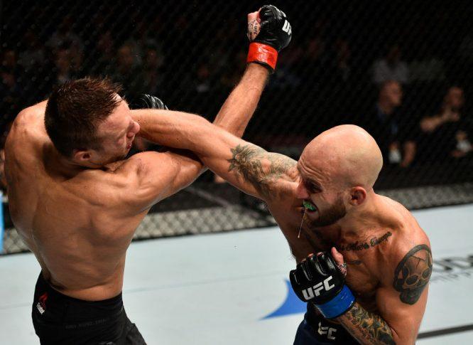 UFCファイトナイト・ポーランド:ダミアン・スタシアク vs. ブライアン・ケレハー【ポーランド・グダニスク/2017年10月21日(Photo by Jeff Bottari/Zuffa LLC/Zuffa LLC via Getty Images)】