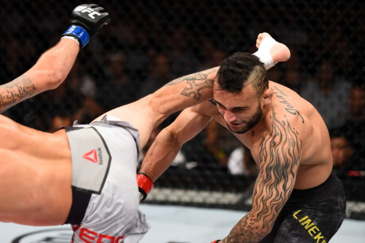 UFCファイトナイト・サンパウロ:ジョン・リネカー vs. マルロン・ヴェラ【ブラジル・サンパウロ/2017年10月28日(Photo by Josh Hedges/Zuffa LLC/Zuffa LLC via Getty Images)】
