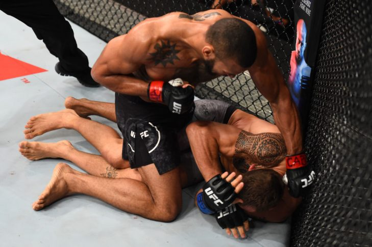 UFCファイトナイト・サンパウロ:チアゴ・サントス vs. ジャック・ハーマンソン【ブラジル・サンパウロ/2017年10月28日(Photo by Josh Hedges/Zuffa LLC/Zuffa LLC via Getty Images)】