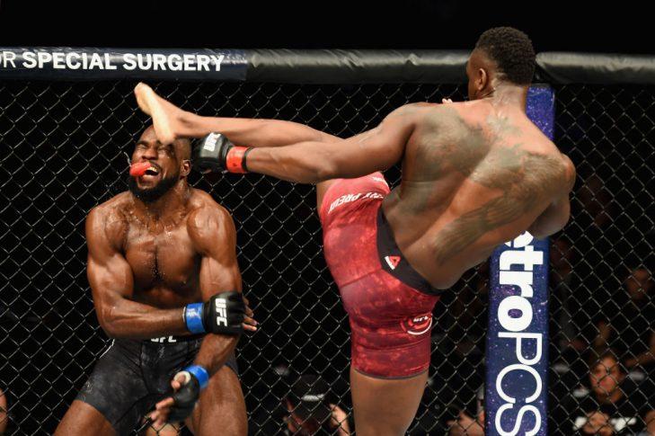 UFC 217:オヴィンス・サン・プルー vs. コーリー・アンダーソン【アメリカ・ニューヨーク州ニューヨーク/2017年11月4日(Photo by Josh Hedges/Zuffa LLC/Zuffa LLC via Getty Images)】