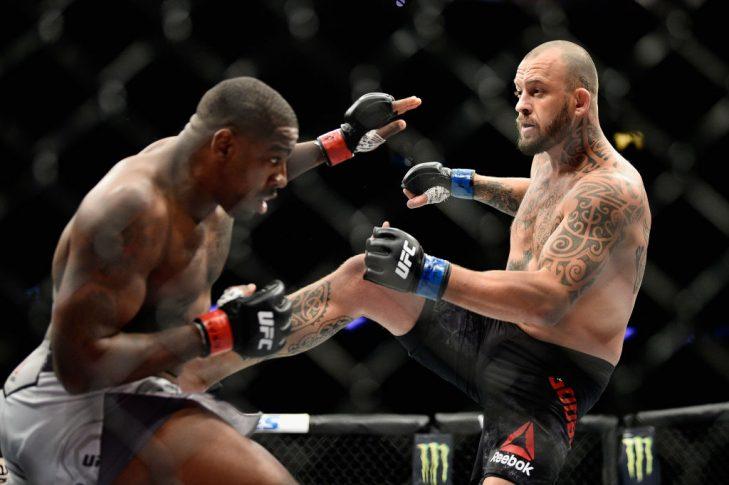 UFC 217:ウォルト・ハリス vs. マーク・ゴッドビアー【アメリカ・ニューヨーク州ニューヨーク/2017年11月4日(Photo by Jeff Bottari/Zuffa LLC/Zuffa LLC via Getty Images)】