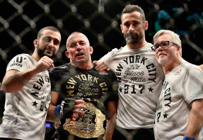 UFC 217:マイケル・ビスピン vs. ジョルジュ・サン・ピエール【アメリカ・ニューヨーク州ニューヨーク/2017年11月4日(Photo by Jeff Bottari/Zuffa LLC/Zuffa LLC via Getty Images)】