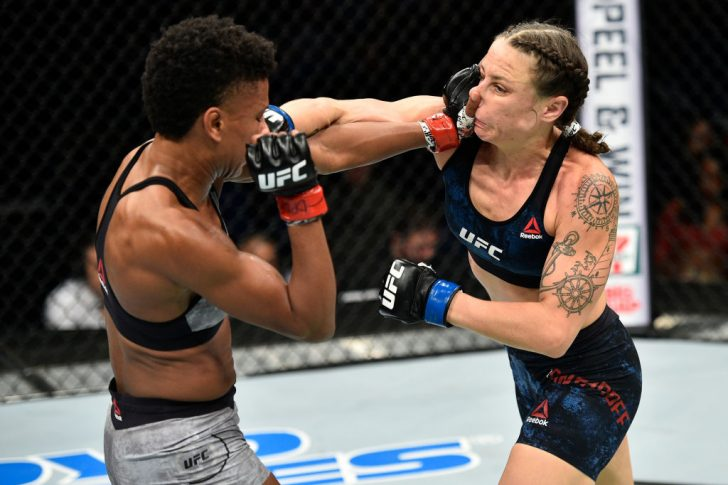 UFCファイトナイト・ノーフォーク:アンジェラ・ヒル vs. ニーナ・アンサロフ【アメリカ・バージニア州ノーフォーク/2017年11月11日(Photo by Brandon Magnus/Zuffa LLC/Zuffa LLC via Getty Images)】