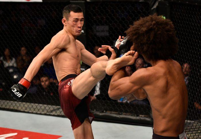 UFCファイトナイト上海:ワン・グワン vs. アレックス・カサレス【中国・上海/2017年11月25日(Photo by Brandon Magnus/Zuffa LLC via Getty Images)】