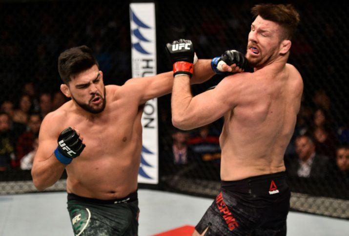 UFCファイトナイト上海:マイケル・ビスピン vs. ケルヴィン・ガステラム【中国・上海/2017年11月25日(Photo by Brandon Magnus/Zuffa LLC via Getty Images)】