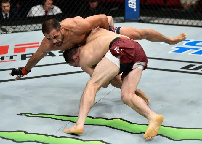 UFCファイトナイト・フレズノ:フランキー・サエンツ vs. メラブ・ドバリシビリ【カリフォルニア州フレズノ・アメリカ/2017年12月9日(Photo by Jeff Bottari/Zuffa LLC/Zuffa LLC via Getty Images)】