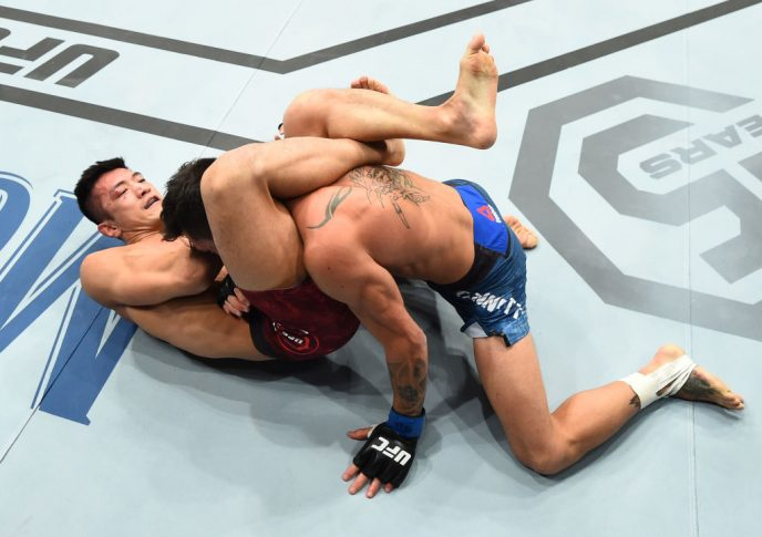 UFCファイトナイト・セントルイス:カン・ギョンホ vs. グイド・カネッティ【ミズーリ州セントルイス・アメリカ/2018年1月14日(Photo by Josh Hedges/Zuffa LLC/Zuffa LLC via Getty Images)】