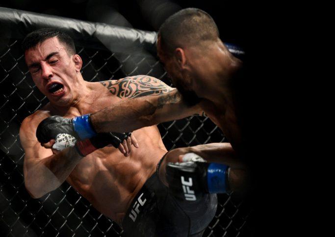 UFC 220:トーマス・アウメイダ vs. ロブ・フォント【アメリカ・マサチューセッツ州ボストン/2018年1月20日(Photo by Brandon Magnus/Zuffa LLC/Zuffa LLC via Getty Images)】