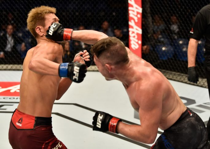 UFC 221:ルーク・ジュモー vs. 阿部大治【オーストラリア・パース/2018年2月11日(Photo by Jeff Bottari/Zuffa LLC/Zuffa LLC via Getty Images)】