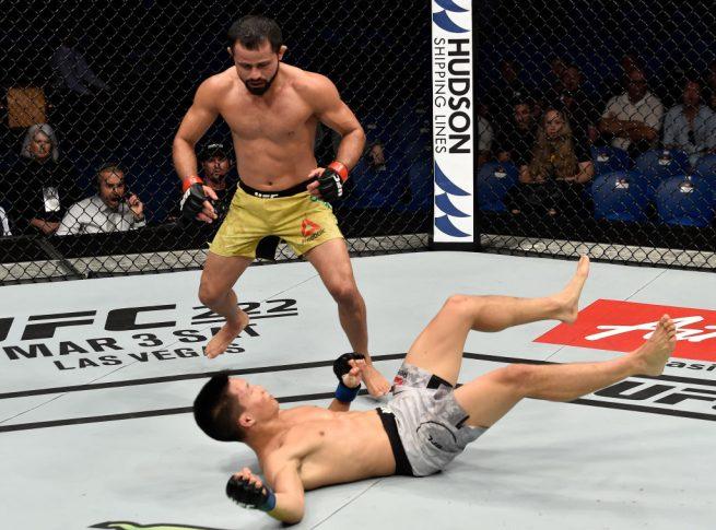 UFC 221:ジュシー・フォルミーガ vs. ベン・グエン【オーストラリア・パース/2018年2月11日(Photo by Jeff Bottari/Zuffa LLC/Zuffa LLC via Getty Images)】