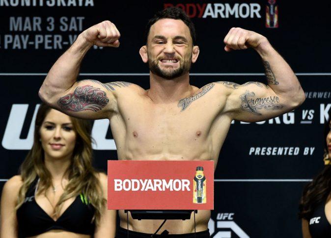 UFC 222:公式計量セレモニーに登場したフランキー・エドガー【アメリカ・ネバダ州ラスベガス/2018年3月2日(Photo by Jeff Bottari/Zuffa LLC/Zuffa LLC via Getty Images)】