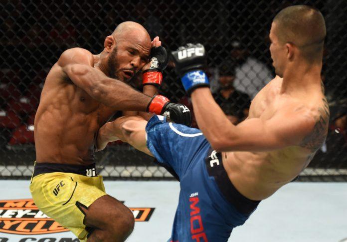 UFCファイトナイト・アリゾナ:ウィルソン・ヘイス vs. ジョン・モラガ【アメリカ・アリゾナ州グレンデール/2018年4月14日(Photo by Josh Hedges/Zuffa LLC/Zuffa LLC via Getty Images)】