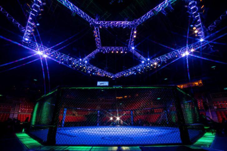 UFC 224:オクタゴン【ブラジル・リオデジャネイロ/2018年5月12日(Photo by Buda Mendes/Zuffa LLC/Zuffa LLC)】