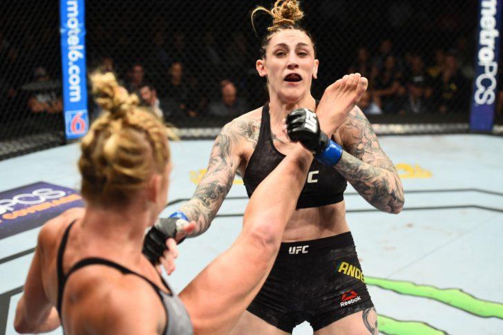 UFC 225:ホリー・ホルム vs. ミーガン・アンダーソン【アメリカ・イリノイ州シカゴ/2018年6月9日(Photo by Josh Hedges/Zuffa LLC/Zuffa LLC via Getty Images)】