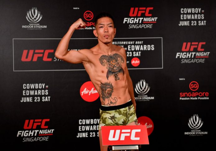 UFCファイトナイト・シンガポール:石原夜叉坊【2018年6月22日(Photo by Jeff Bottari/Zuffa LLC/Zuffa LLC via Getty Images)】
