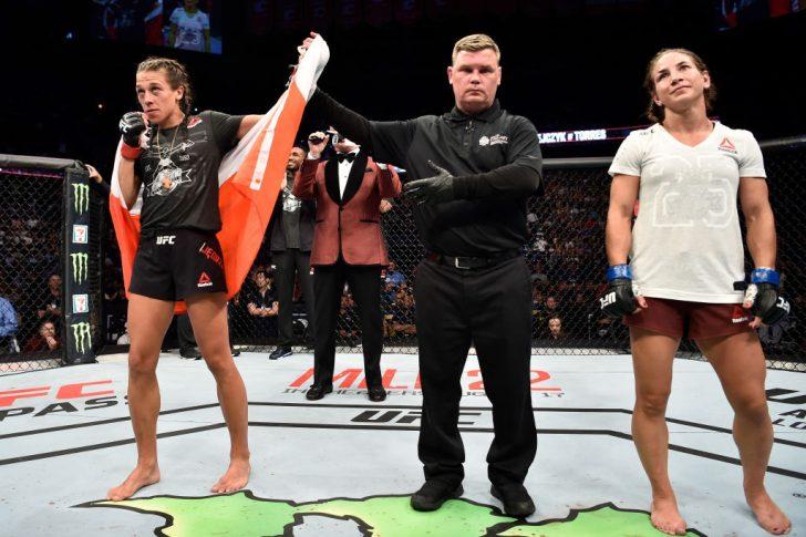 UFCファイトナイト・カルガリー:ヨアンナ・イェンドジェイチェク vs. テシア・トーレス【カナダ・アルバータ州カルガリー/2018年7月28日(Photo by Jeff Bottari/Zuffa LLC/Zuffa LLC via Getty Images)】