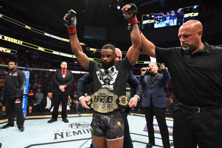 UFC 228:タイロン・ウッドリー vs. ダレン・ティル【アメリカ・テキサス州ダラス/2018年9月8日(Photo by Josh Hedges/Zuffa LLC/Zuffa LLC via Getty Images)】
