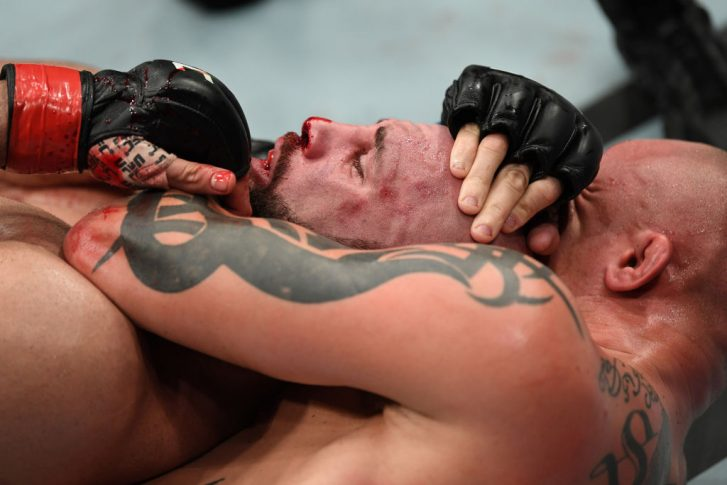 UFCファイトナイト・モンクトン:ヴォルカン・オーズデミア vs. アンソニー・スミス【カナダ・ニューブランズウィック州モンクトン/2018年10月27日(Photo by Jeff Bottari/Zuffa LLC/Zuffa LLC via Getty Images)】