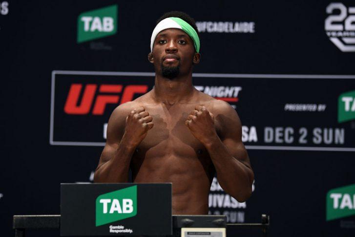 UFCファイトナイト・アデレード:公式計量に登場したソディック・ユサフ【オーストラリア・アデレード/2018年11月30日(Photo by Jeff Bottari/Zuffa LLC/Zuffa LLC via Getty Images)】