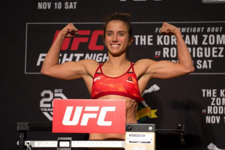 UFCファイトナイト・デンバー:公式計量に登場したメイシー・バーバー【アメリカ・コロラド州デンバー/2018年11月9日(Photo by Chris Unger/Zuffa LLC/Zuffa LLC via Getty Images)】
