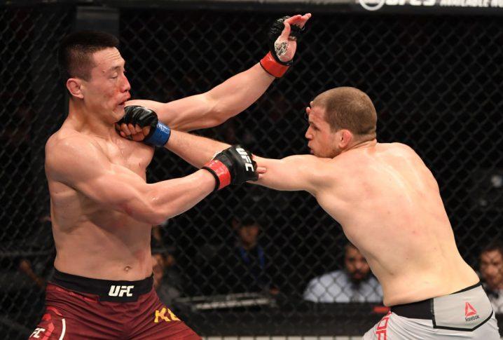 UFCファイトナイト北京:ソン・ケナン vs. アレックス・モロノ【中国・北京/2018年11月24日(Photo by Jeff Bottari/Zuffa LLC/Zuffa LLC via Getty Images)】