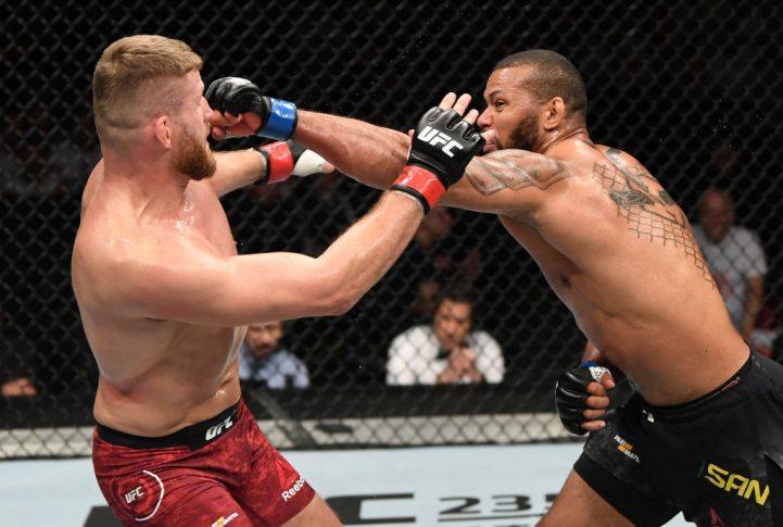 UFCファイトナイト・チェコ:ヤン・ブラホビッチ vs. チアゴ・サントス【チェコ・プラハ/2019年2月23日(Photo by Jeff Bottari/Zuffa LLC/Zuffa LLC via Getty Images)】