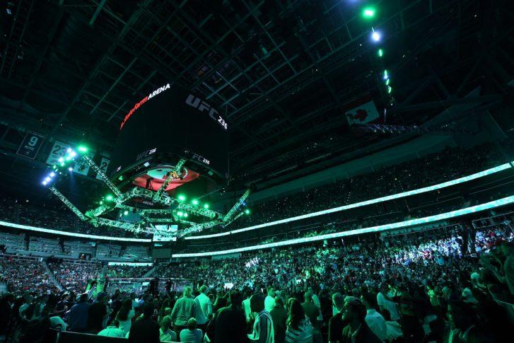 UFC 236:オクタゴン【アメリカ・ジョージア州アトランタ/2019年4月14日(Photo by Josh Hedges/Zuffa LLC/Zuffa LLC via Getty Images)】