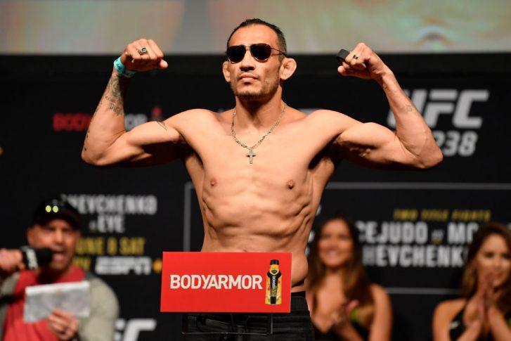 UFC 238:公式計量セレモニーに登場したトニー・ファーガソン【アメリカ・イリノイ州シカゴ/2019年6月7日(Photo by Jeff Bottari/Zuffa LLC/Zuffa LLC via Getty Images)】