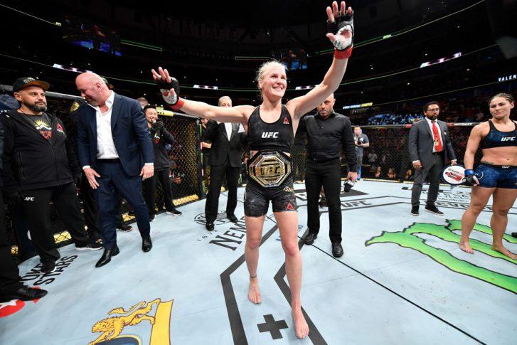 UFC 238:ワレンチナ・シェフチェンコ vs. ジェシカ・アイ【アメリカ・イリノイ州シカゴ/2019年6月8日(Photo by Jeff Bottari/Zuffa LLC/Zuffa LLC via Getty Images)】