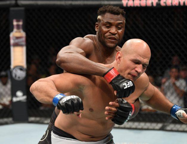 UFCファイトナイト・ミネアポリス:フランシス・ガヌー vs. ジュニオール・ドス・サントス【アメリカ・ミネソタ州ミネアポリス/2019年6月29日(Photo by Josh Hedges/Zuffa LLC/Zuffa LLC via Getty Images)】