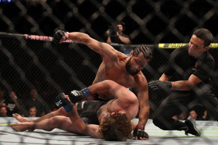 UFC 239:ホルヘ・マスヴィダル vs. ベン・アスクレン【アメリカ・ネバダ州ラスベガス/2019年7月6日(Photo by Christian Petersen/Zuffa LLC/Zuffa LLC)】