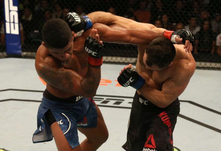 UFCファイトナイト・ウルグアイ:ギルバート・バーンズ vs. アレクセイ・クンチェンコ【ウルグアイ・モンテビデオ/2019年8月10日(Photo by Alexandre Schneider /Zuffa LLC/Zuffa LLC)】