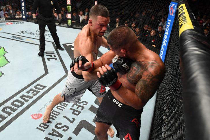 UFC 241:アンソニー・ペティス vs. ネイト・ディアス【アメリカ・カルフォルニア州アナハイム/2019年8月17日(Photo by Josh Hedges/Zuffa LLC/Zuffa LLC via Getty Images)】