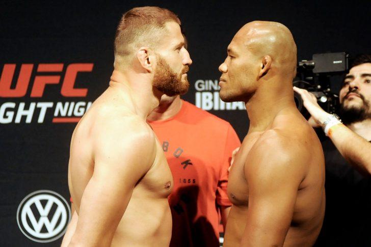 UFCファイトナイト・サンパウロ:フェイスオフに臨んだヤン・ブラホビッチとジャカレ・ソウザ【UFC】