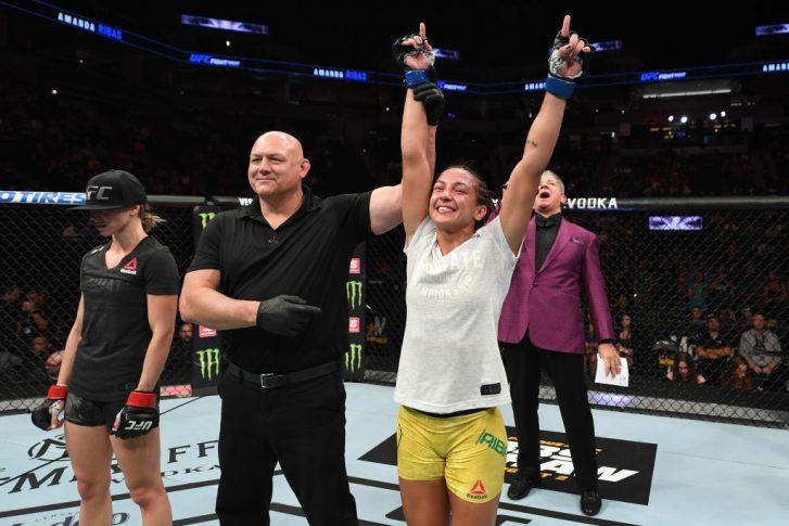 UFCファイトナイト・ミネアポリス:エミリー・ウィットマイア vs. アマンダ・ヒバス【アメリカ・ミネソタ州ミネアポリス/2019年6月29日(Photo by Josh Hedges/Zuffa LLC/Zuffa LLC via Getty Images)】